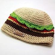 Juicy Cheeseburger Crochet Beanie Hat