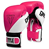 Title Boxing Gel E-Series Training/Sparring Gloves, Pink/White/Black, 12 oz