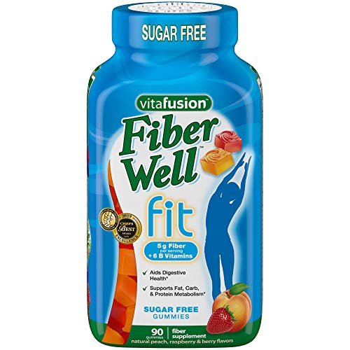 Vitafusion Fiber Well Fit Gummies Supplement, 90 Count (Packaging May Vary) (The Best Fiber Supplement For Weight Loss)