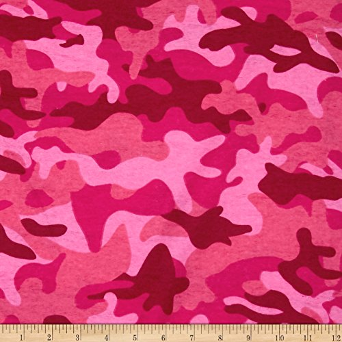Newcastle Fabrics Flannel Camo Pink Yard