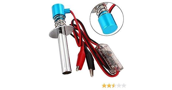 WEONE Azul mejorada 6V-24V Electrónico Bujía de arranque del encendedor del coche para Nitro RC: Amazon.es: Juguetes y juegos