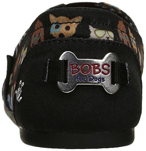 De Skechers Partir Pup A Los en Perros La Resbalã³n Flat Para Black Bobs Felpa 1qFwnxA5
