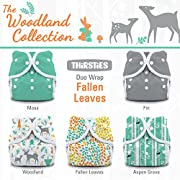 Thirsties Package, Snap Duo Wrap, Woodland Collection Fallen Leaves, Size 1