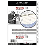 AT-A-GLANCE 2019 Weekly & Monthly Planner Refill, Day Runner , 5-1/2'' x 8-1/2'', Desk Size 4, Loose Leaf (481-485)