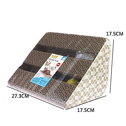 (Jim-Hugh Scratcher for Cat Corrugated Paper Scratcher Kitten Scratch Pad Catnip Scratching Mat Board Games Pet Products)