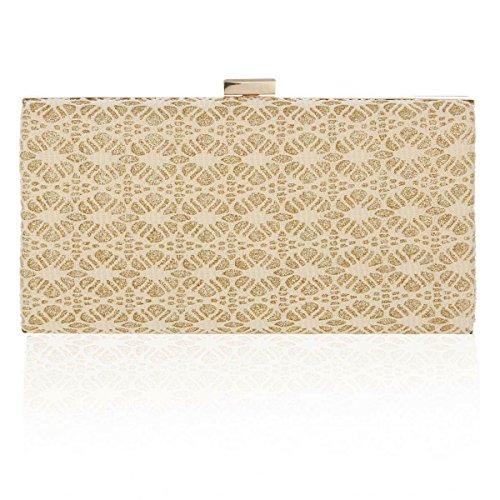 Medium Box Gold Elegant Bag Damara Womens Evening Stylish x17qqA