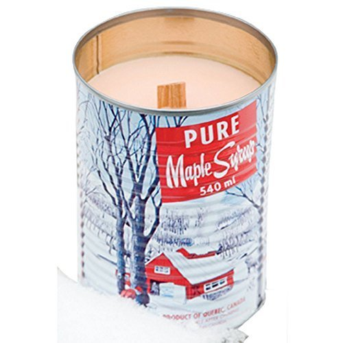 Fireplace Scented Candle (Maple Syrup Candle with a Crackling Wooden Wick. Natural Soy Wax Candles. Burns Clean, Even, and True-to-scent for Hours 540ml)