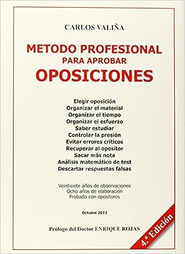 Metodo Profesional Para Aprobar Oposiciones: Amazon.es ...