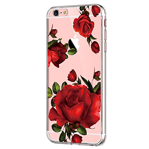 Qissy iPhone 6s Plus Case, iPhone 6 Plus Case Clear Flower Design Transparent TPU Cover (not for iPhone6/6s!) (22)