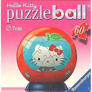 Ravensburger Puzzle Ball 60 Pezzi Hello Kitty Diametro 7cm Con Mela