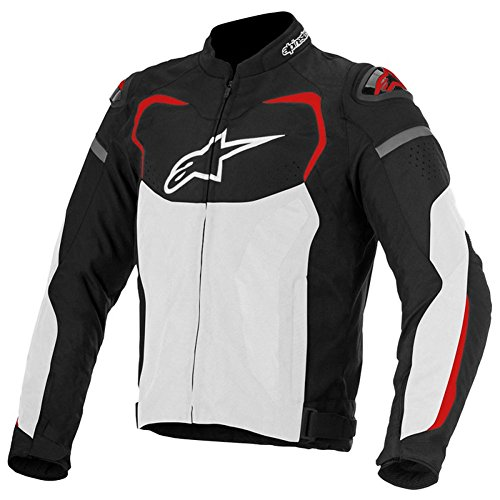 Alpinestars T-GP Pro Air Mens Textile Motorcycle Jackets - Black/White/Red - X-Large