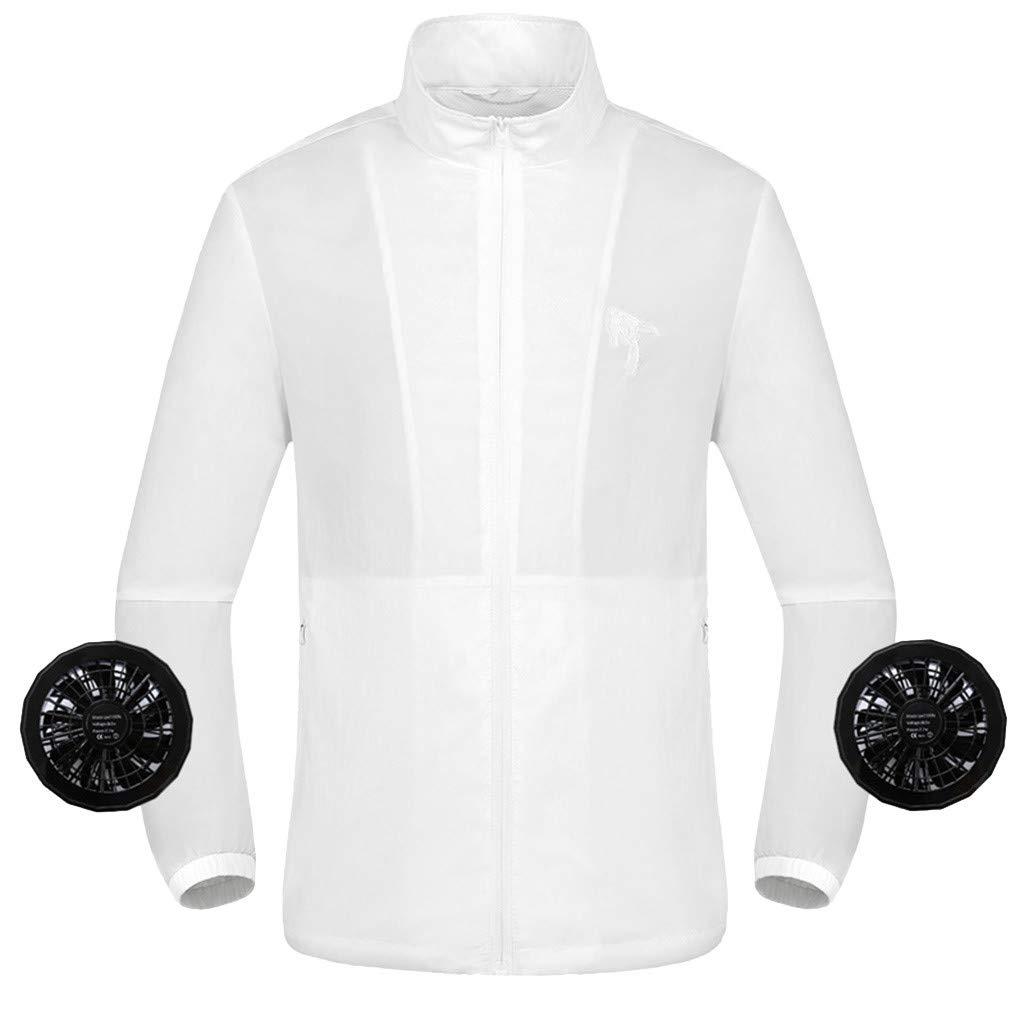 Camiseta de hombre para verano, aire acondicionado, contrarrestar el calor, para exterior, ropa de trabajo, XXL, Blanco, 1: Amazon.es: Industria, empresas y ciencia