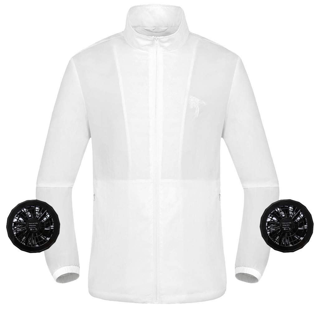 Summer Air Conditioning Heatstroke Countermeasures Outdoor Working Clothes Top White