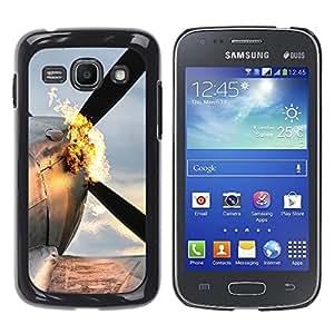 EJOY---Cubierta de la caja de protección la piel dura para el / Samsung Galaxy Ace 3 / --Plano Flaming
