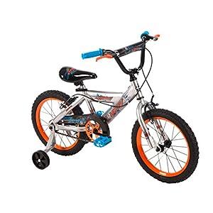 16 inch Huffy Cyborg Boys' Bike, Orange/Blue