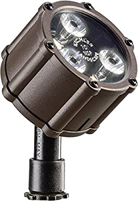 Kichler Lighting 15731AZT LED Accent Light 3-Light Low Voltage 10 Degree Spot Light, Textured Architectural Bronze with Clear Tempered Glass Lens