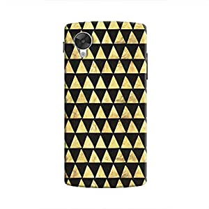 Cover It Up - Gold Black Triangle Tile Nexus 5 Hard Case