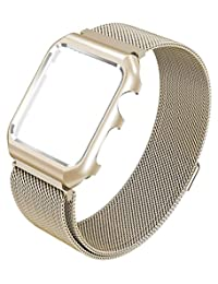 Yometome iWatch Band, Fashion Noble Luxury Magnetic Mesh Stainless Steel Bracelet Accessory Replacement Wristband for Apple watch 38MM