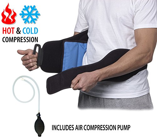 NatraCure Hot/Cold Compression Lumbar Support Back Brace/Wrap – Alleviates Pain from Back Surgery, Arthritis, Swelling, Sciatica, Degenerative/Slipped Discs, and Sports Injuries (6037 CAT) Cold Back Wrap