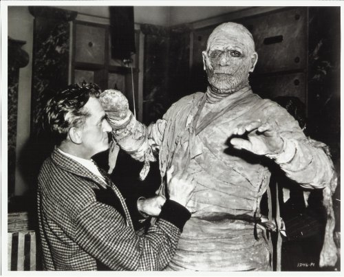 Boris Karloff as the Mummy 8x10 Photo with costume designer]()