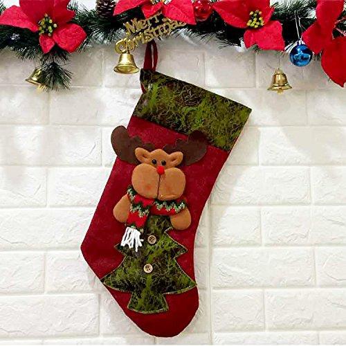 Creative Christmas Tree Pendant Festive Christmas Supplies Christmas Socks Elk Window Decoration Can Be Customized elk