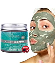 HeaBea Body Clear face Skin Mask Efficiently Acne blackhead remover,Reduces Pores & Wrinkles Dead Sea Mud Masks Natural Minerals Treatment For All kinds Skin Type Beauty Care/with Essential tool