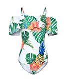 KAEHONY COCO Women's Shoulder Belt Personalized Print Sexy Beach Or Party One-Piece Swimsuits