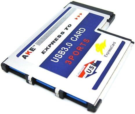 3 Port Hidden Inside USB 3.0 USB3.0 to Expresscard Express Card 54 54mm Adapter  Converter FRESCO LOGIC Chipset FL1100: Amazon.es: Electrónica