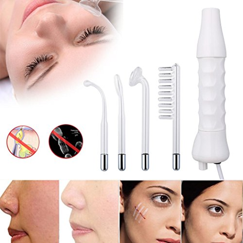 Skin Care Tools,Putars Portable Multifunctional Electrode Glass Tube High Frequency Instrument Skin Facial Spa Salon Machine Beauty Acne Remover White from Putars