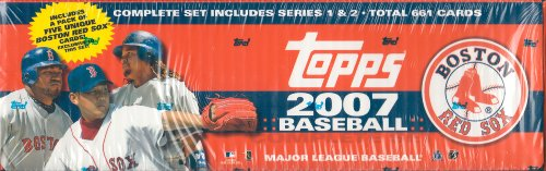 2007 Topps MLB Baseball Factory Sealed 661 Card Set Which Includes a Bonus Pack of 5 Unique Boston Red Sox Cards -