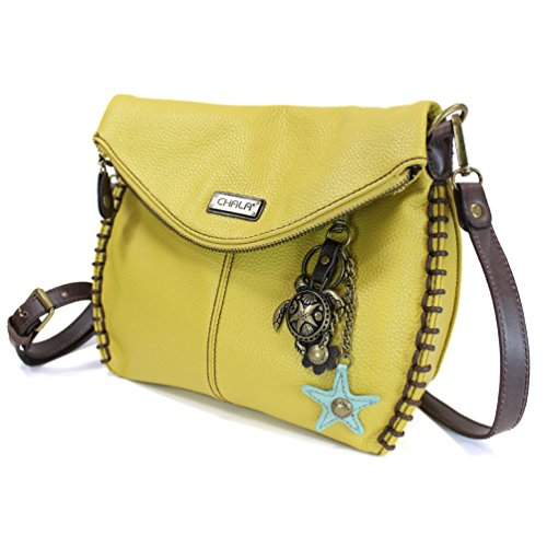 Handbag Chala Chain or and Flap with Metal Body With Zipper Shoulder Mustard Charming Crossbody Cross Bag Top Mustard Flap Purse rxUqZCrBn