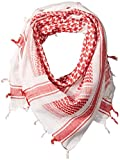 Camcon Shemagh Scarf, One Size Fits Most, Red/White Review