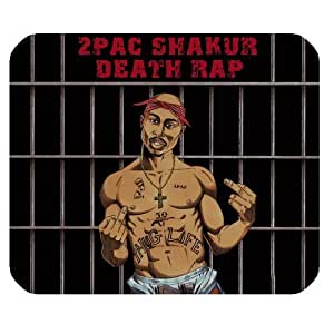 2pac Tupac Amaru Shakur Makaveli Customized Rectangle Mouse Pad by runtopwell