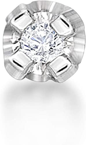 Amazon Com Diamond Nose Ring Straight Stud 01 Cttw Diamond In