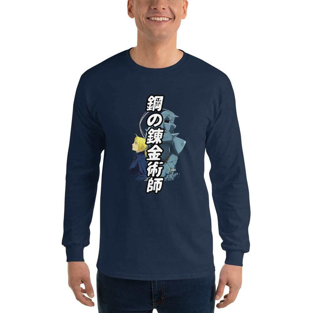Edward and Alphonse Elric Brothers Fullmetal Alchemist Brotherhood Anime Manga Men Women Unisex Long Sleeve T-Shirt