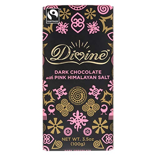 DIVINE Dark Chocolate Bar; With Pink Himalayan Salt , Pack of 10