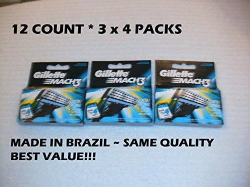 gillette-mach3-pack-of-12-cartridges-shaving-blades-for-razor-new-mach-3