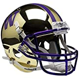 NCAA Washington Huskies Gold Chrome Replica Helmet, One Size, White