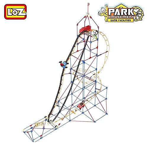 Loz Amusement Park Game Machine Orbital Wheels Train Track Roller Coaster   2016