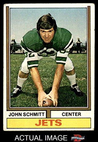 John Schmitt New York Jets (1974 Topps # 363 John Schmitt New York Jets (Football Card) Dean's Cards 2 - GOOD Jets)