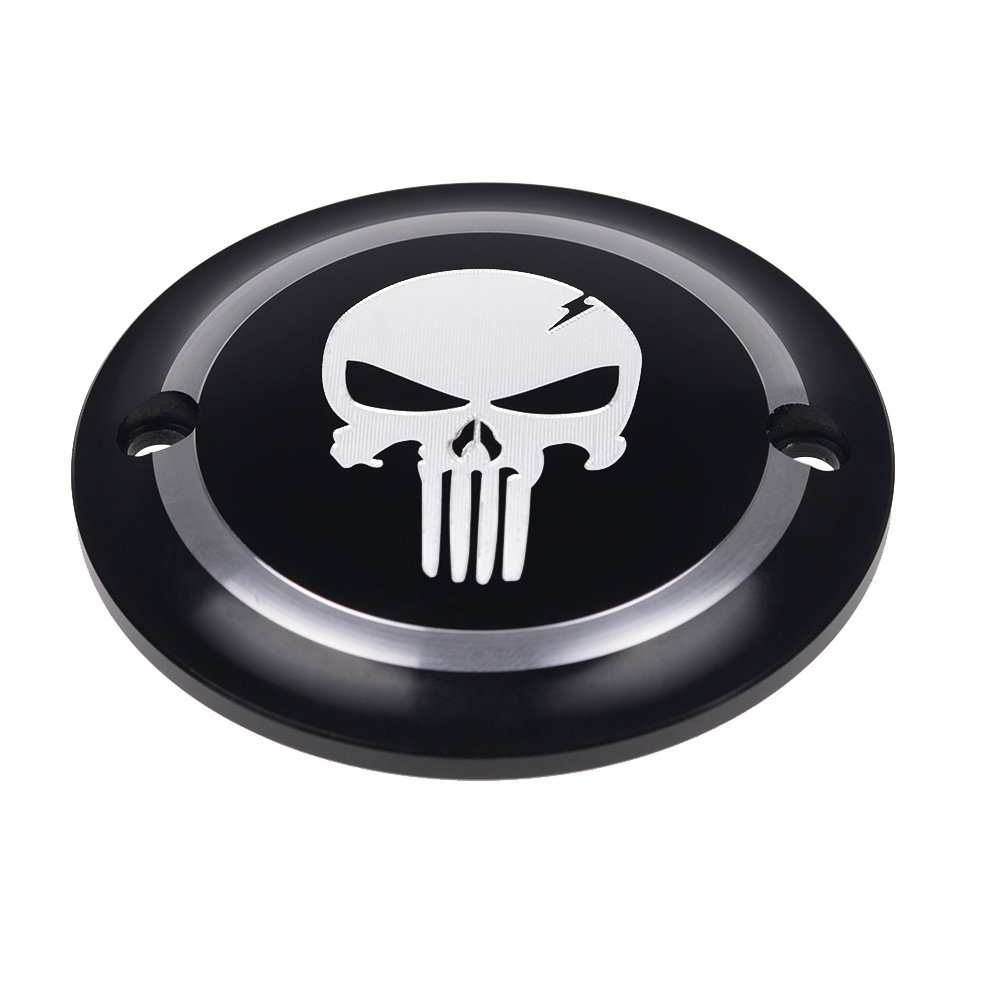 Frenshion Left Black Motorcycle Skull Clutch Accessories Derby Timer Timing Cover For Harley Street XG750 XG500 2015-2016