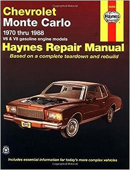 Book Chevrolet Monte Carlo '70'88 (Haynes Repair Manuals) by John Haynes (1983-02-06)