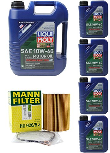 08-13 BMW M3 E90/ E92/ E93 4.0L OIL CHANGE KIT W/LIQUIMOLY 10W-60. (See Fitment Below In Product Discription) (Moly 60)