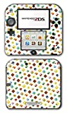 New Super Mario Bros 3D World Land Power-up Mushroom Shell Star Flower Coin White Edition Video Game Vinyl Decal Skin Sticker Cover for Nintendo 2DS System Console