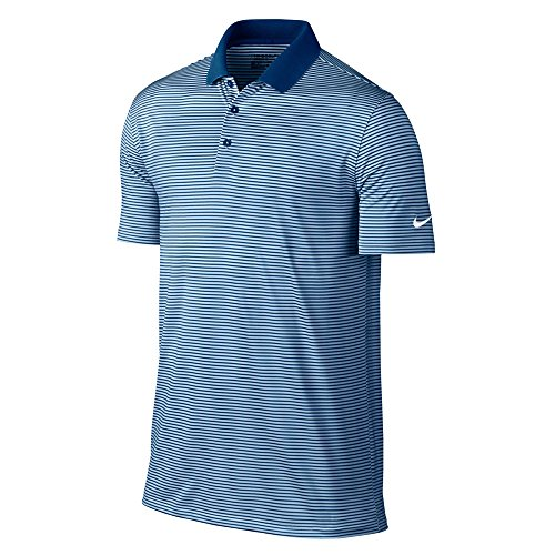 - Nike Victory Mini Stripe Golf Polo 2017 Blue Jay/Hydrogen Blue/White Small