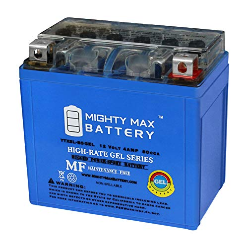Mighty Max Battery YTX5L-BS Gel Battery for Suzuki LT80 QuadSport 80 ATV Brand Product