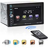 BOSS Audio BV9370B Car Stereo – Double Din, Bluetooth Audio and Hands Free Calling, 6.5 Inch Touchscreen LCD Monitor, MP3 Player, USB Port, SD Card Slot, AUX Input, AM/FM Radio Receiver (No CD/DVD)