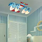 DYBLING Creative Living Room Bedroom Simple Modern Dining Room Children's LED Lamp Children Cartoons Aircraft Girls Boys Led 6058 cm Celing Lamp Lights