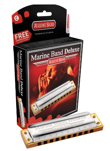Hohner M2005BX-G Marine Band Deluxe Harmonica, Key of G (Hohner Marine Band Harmonica G)