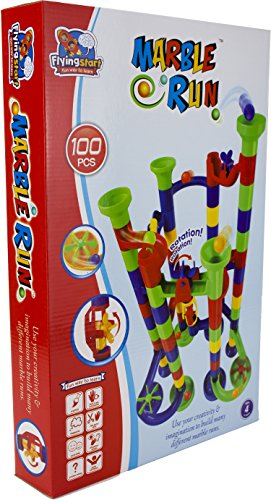 Flying Start Marble Run Toy 100 Pcs Building Blocks Learning& Educational Construction Toys Ages 4+